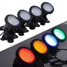 1 set With 4 Lights 36 LED 6W Underwater Submersible Aquarium Spot Light for Fish tank Color Change Automatically EU US plug