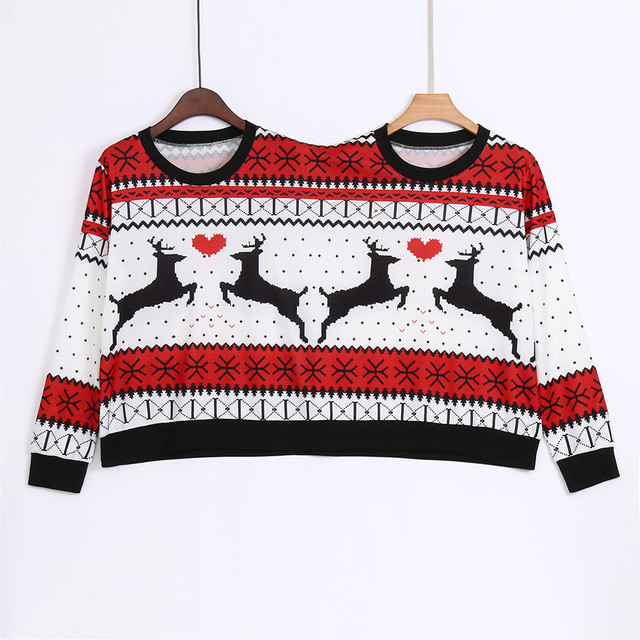 Two Person ugly christmas sweater Xmas Couples Pullover Novelty Christmas Blouse Top sweatershirt pull hiver femme 2018 3
