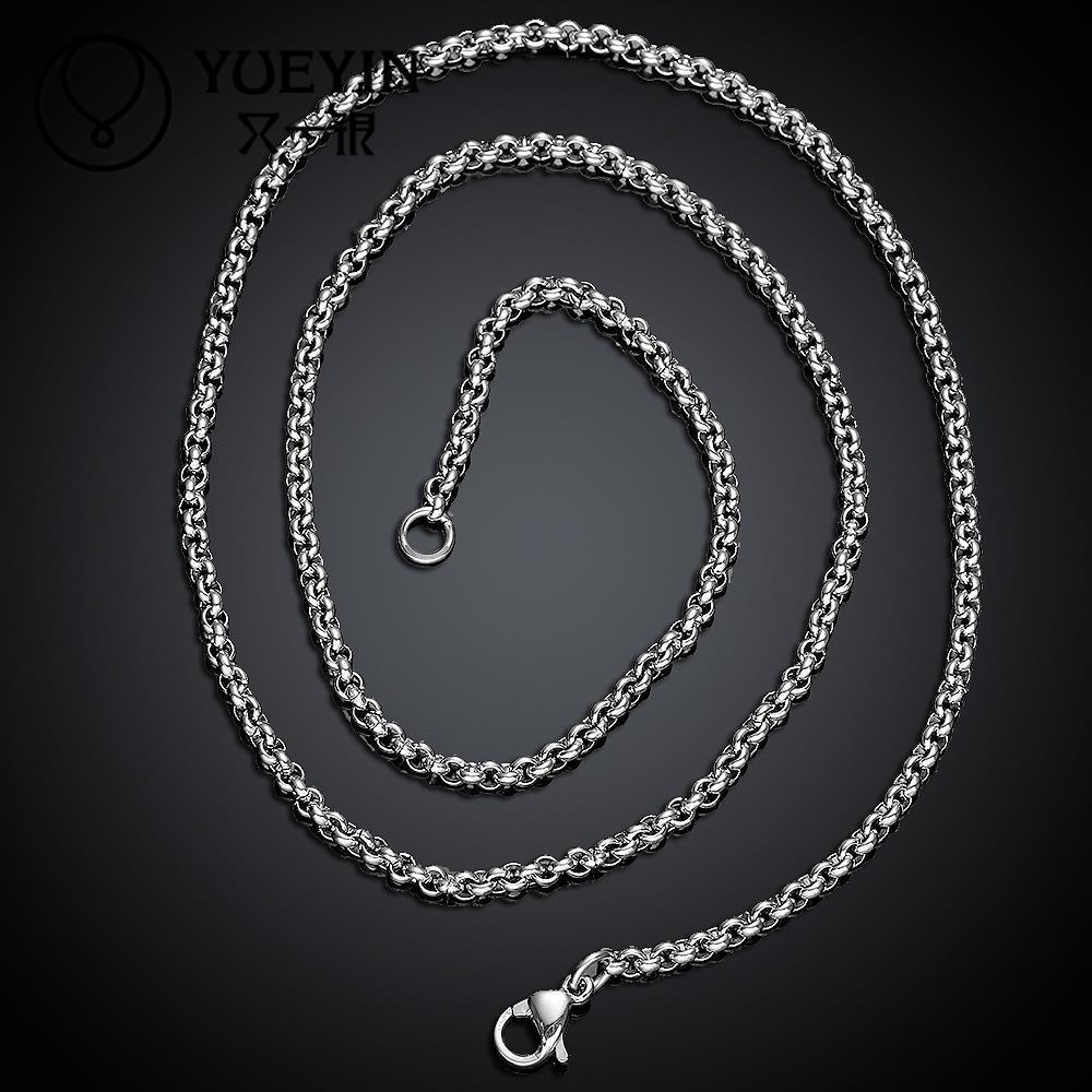 cfee6e43ec95 1 unid envío libre collar de cadena de acero inoxidable con descuento  grande