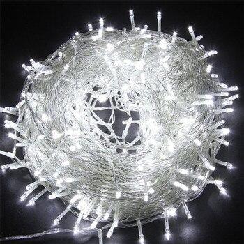 Luces de cadena LED de Navidad para exteriores sicsaee 100M 20M 10M 5M Luces de decoración de hadas Luces De vacaciones iluminación garland de árbol