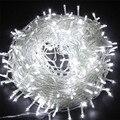 SICCSAEE наружные рождественские светодиодные гирлянды 100 м 20 м 10 м 5 м Luces Decoracion fairy light Праздничные огни освещение Дерево гирлянда