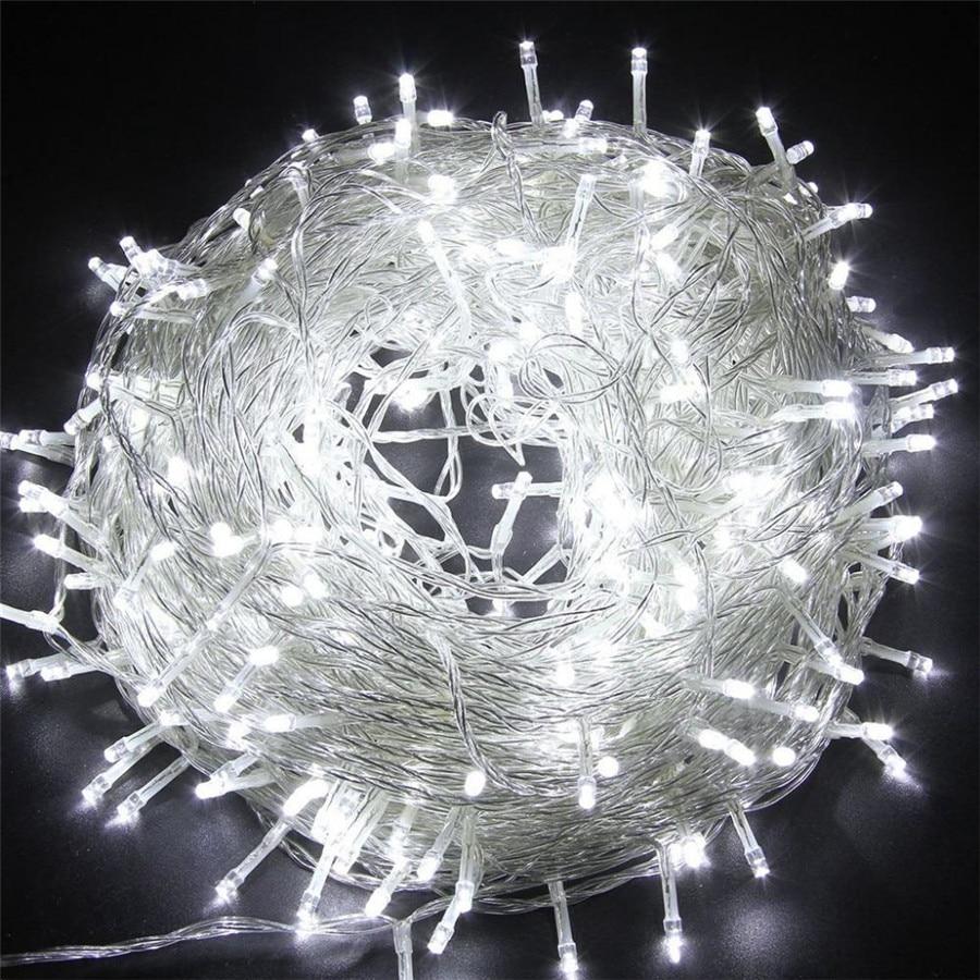 SICCSAEE Outdoor Christmas Led String Lights 100M 20M 10M 5M Luces Decoracion Fairy Light Holiday Lights Lighting Tree Garland