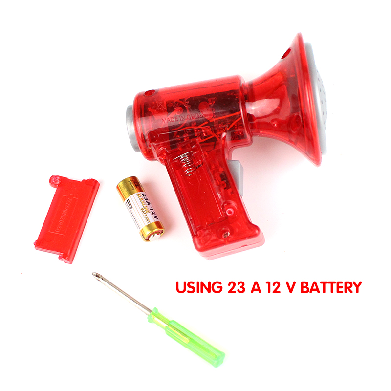 Mini LED Voice Changer Loud Superbright Children Kids Toy Sound Effects Gift Red
