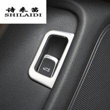 Автомобилей Стайлинг багажника кнопка включения украшения крышки Sitcker Накладка для Audi A6 C7 2012-2018 интерьера из нержавеющей стали авто аксессуары