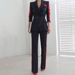 Новое поступление, Женский высококачественный темперамент, модный костюм, Тонкие штаны, удобные, толстые, теплые, трендовые, для улицы, для о...