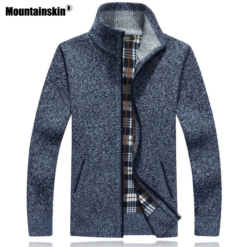 Mountainskin New Men's Sweaters Autumn Winter Warm Pullover Thick Cardigan Coats Mens Brand Clothing Male Casual Knitwear SA582 3