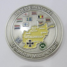 in China manufacturer custom metal challenge epoxy coin