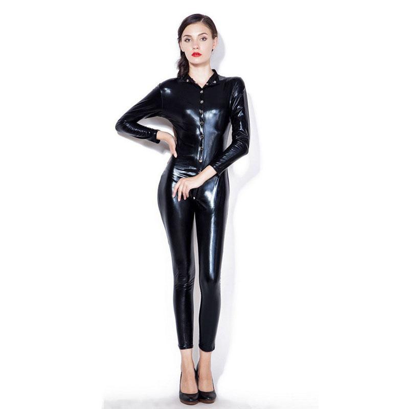 ca2ce5b846 Aliexpress.com   Buy YUFEIDA Sexy Shiny Adult Outfit Costume Cat ...