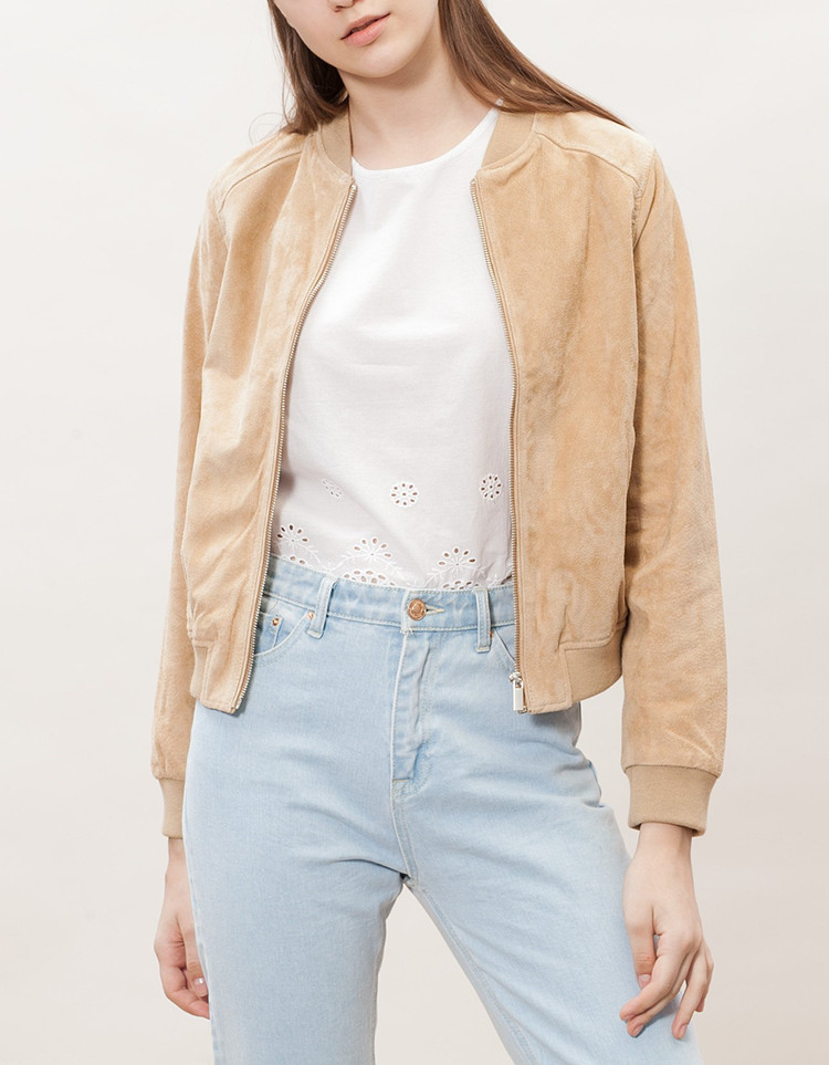 Free shipping,women casual Pig Suede leather jacket.fashion vintage pigskin slim clothing.femme jackets.sales classic