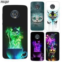 Silicone Hull Shell Back Case For Motorola MOTO G5 G5S G6 E4 E5 Plus G4 Play X4 Riverdale Cover Alice in Wonderland Cat