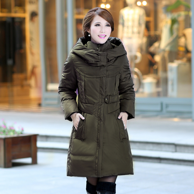 d120c3967f18 NEW Nice Winter Women s Plus Size S-5xl Thickening White Goose Down Coats  Hooded Long