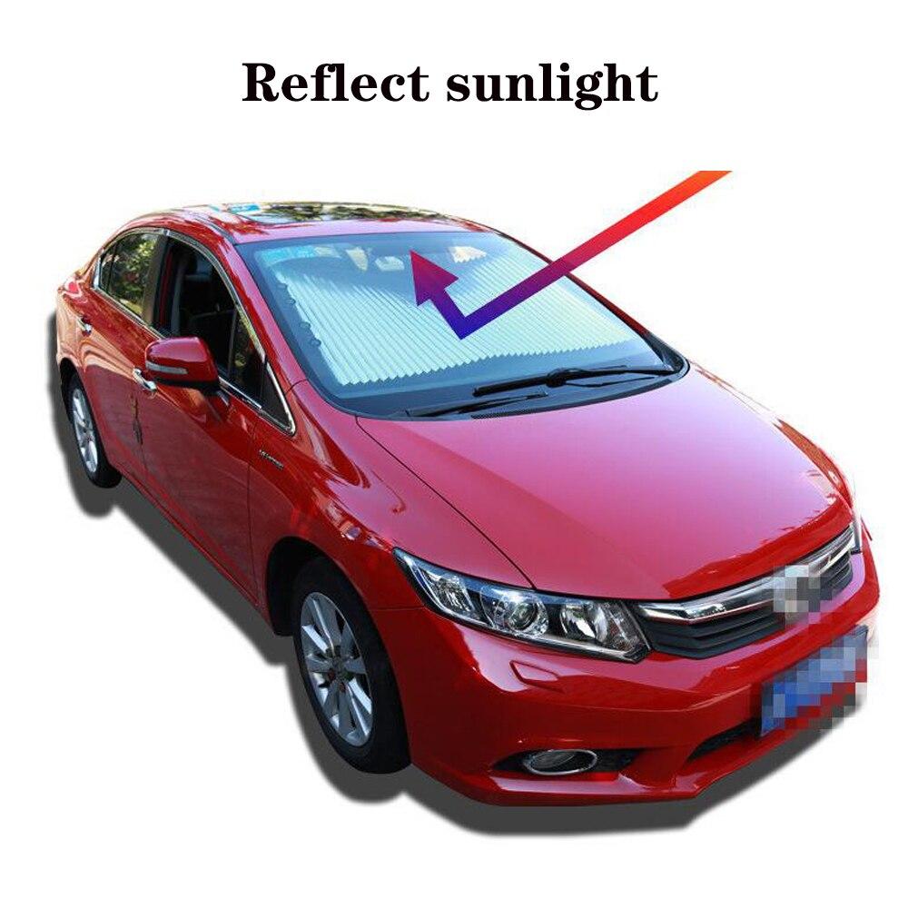 Automatic Car Sun Shade Car Sunshade Sun Protection Sun Shade Car Curtain Private Car SUV Truck Use Size 65,70.80cm Freeshipping
