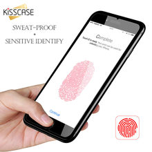 KISSCASE Vinger Print Sticker Protector Case voor iPhone 7 6 6 s plus 5 5 s voor iPhone X 8 XS MAX Case Unlock Touch key Cover Capa(China)