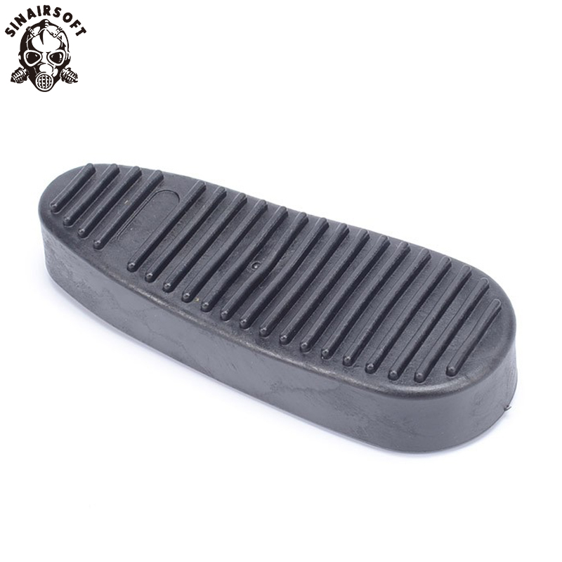 SINAIRSOFT Durable Non-Slip Ribbed Slip On Rubber Recoil Pad Combat Buttpad Butt Pads For 6 Position Stock Hunting Paintball