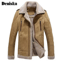 England Men Fur Leather Jacket Jaqueta De Couro Masculino Fur Coat Middle Aged Mens Leather Jacket