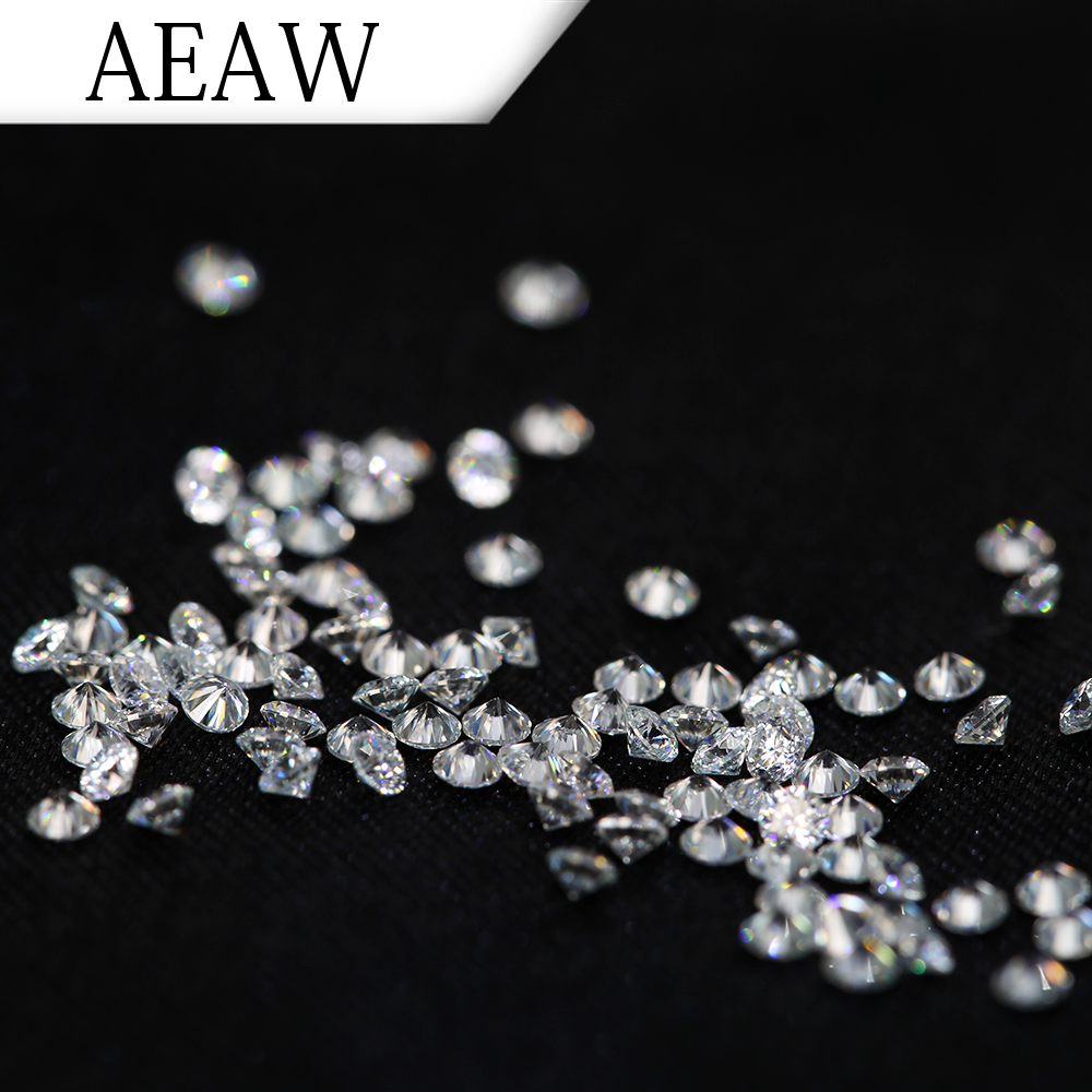 AEAW 2.5mm Total 1 CTW carat  DF Color Certified Moissanite Diamond Loose Bead Test Positive Similar to Forever One 2