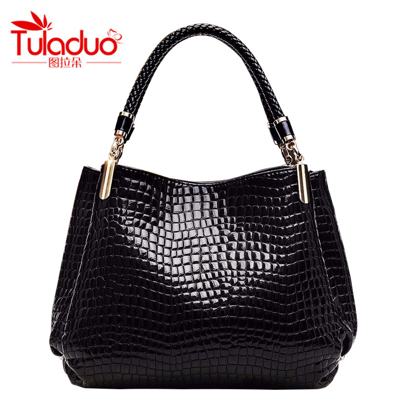 Women Bags 2018 Fashion Alligator Women Handbags High Quality PU Leather Women Shoulder Bags Luxury Casual Ladies Tote Bag