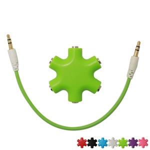 Snowflake Headphone Divider 3.5 1 5 Music Sharer Audio Divider Divider(China)