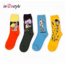 Женские носки inDostyle harajuku printing socks
