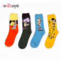 inDostyle  harajuku  printing socks Oil  Painting Art socks Starry Night  van gogh mural socks for women and men ss015