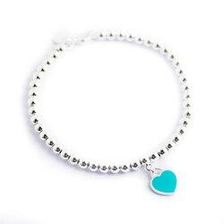 Мода подвеска в форме сердца браслет Ti ювелирные изделия 925 пробы Серебряный кулон очарование бренда Дизайн для Для женщин логотип Fine Jewelry