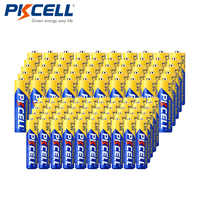 (Paquete combinado de 100 piezas) 1,5 V Extra resistente-50 AA R6P + 50 AAA R03P carbono-Zinc baterías principales
