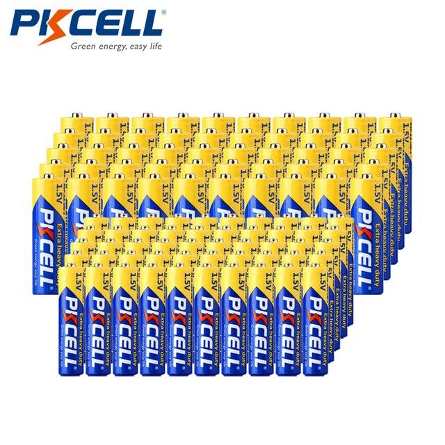 Baterías de carbono y Zinc para termómetro Digital, baterías de 1,5 V Extra resistentes, 50 AA R6P + 50 AAA R03P, combo de 100 piezas