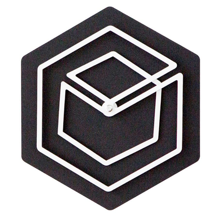 Творческий оригинальные настенные часы Деревянный 3d дети Nordic черный Silent