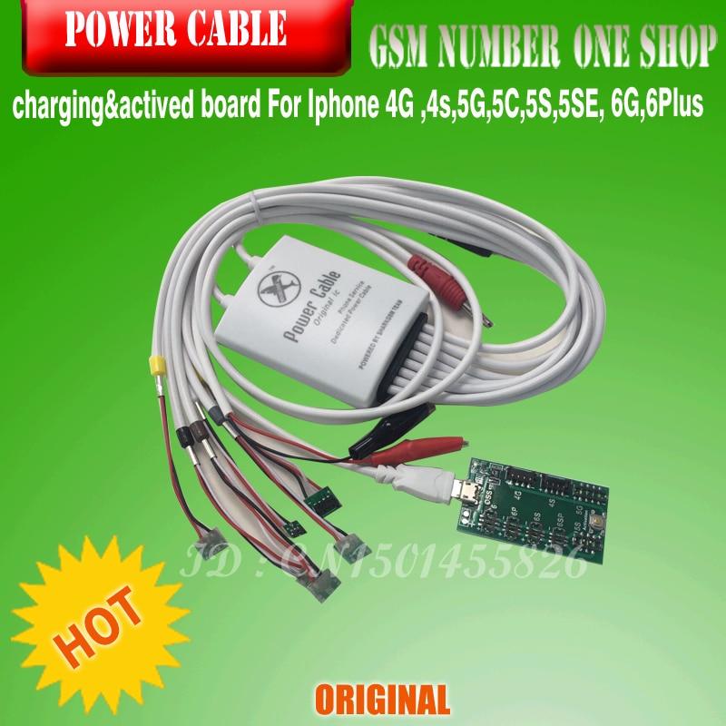 imágenes para Teléfono de servicio dedicado cable de alimentación cable de carga de la batería junta placa de activación para iphone 4/4s/5/5s/6/6 plus shiping libre