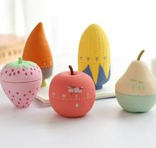 Fruit Design Kitchen Timers 60 Minutes Cooking Mechanical Home Decorating Blue Dial Timers High Quality Kitchen Tools Gadget dss timers