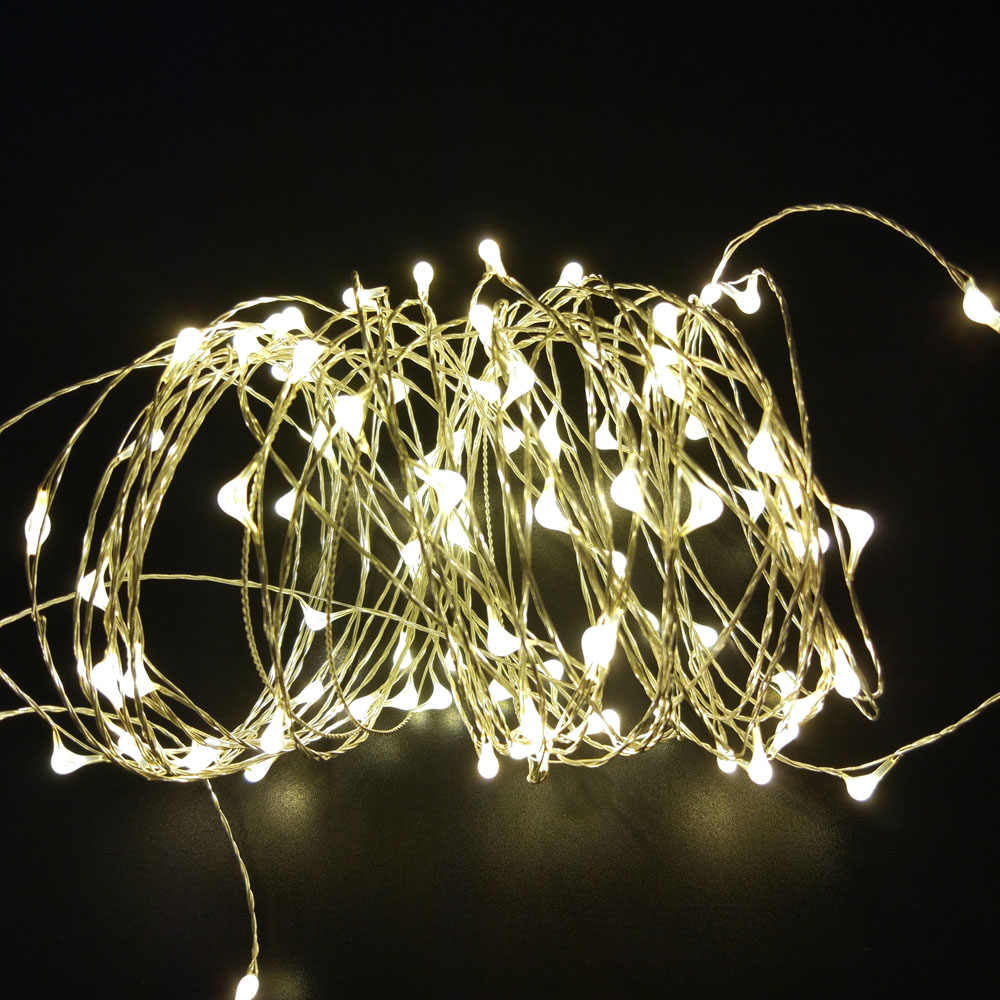 Outdoor lighting Waterproof LED Copper Wire String 2m/10m Battery Powed Decorative lighting For Christmas Tree Wedding Party