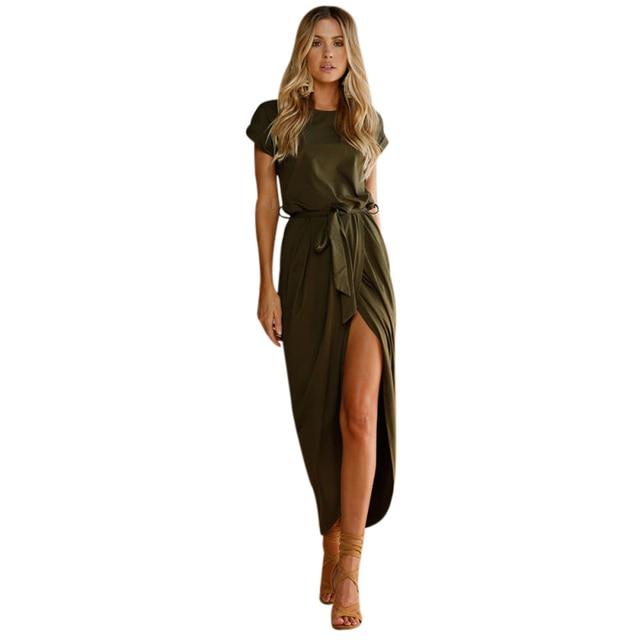 Summer dress women vintage boho long dresses Women elegant Evening Party  Night dress bohemian Style Casual maxi dress Sundress ab4a40b4f622