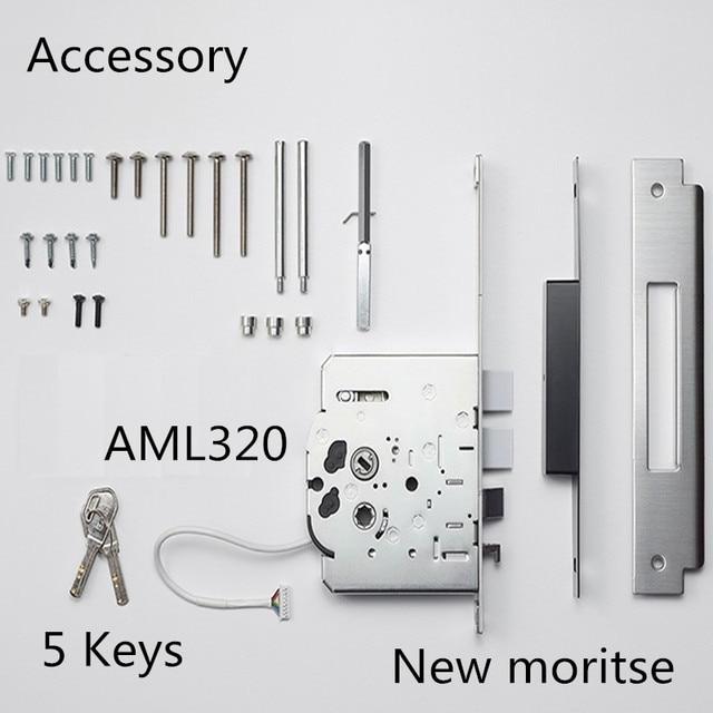 Serrure de porte numérique SAMSUNG | Verrouillage dempreintes digitales, Push Pull sans clé, empreintes digitales, Version anglaise grande mortaise AML320