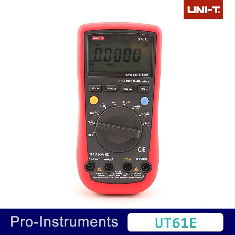 UNI-T UT61E High Reliability Digital Multimeter Modern Digital Multimeters AC DC Meter CD Backlight & Data Hold Multitester uni t ut30c original authentic data handed hold digital multimeters temperature test