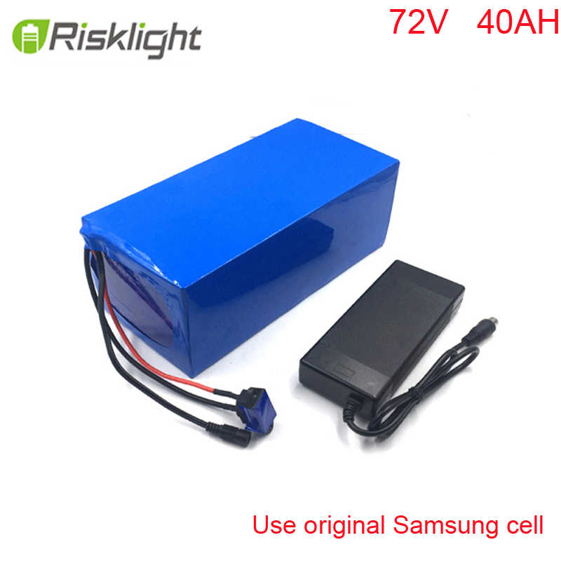 NEW DIY Akku 72V 40Ah  Li ion Battery Pack Powered 72V 2000W 3000W Electric Citycoco For Samsung cell