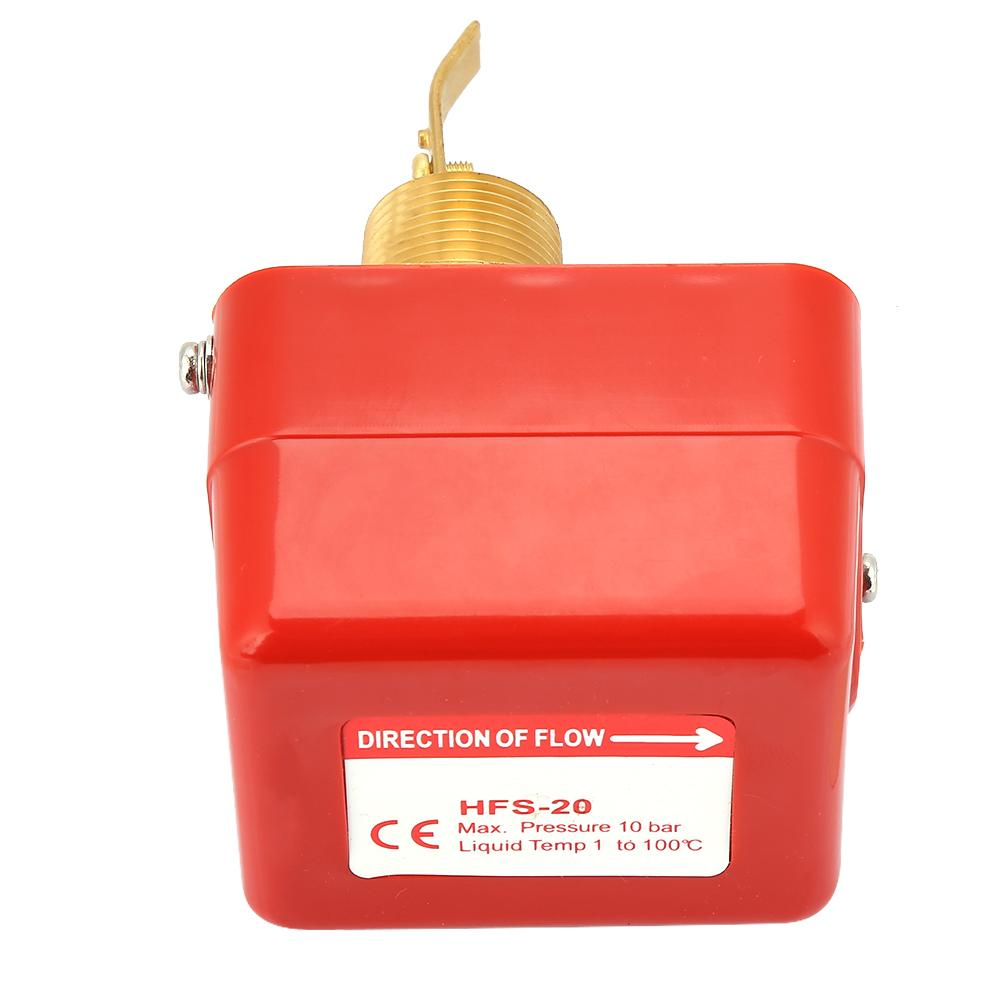 HFS-25 Water Flow Switch Paddle Control SPDT Contacts Partial Stainless Steel Type 1 Connector 1.0MPa 6-380V