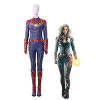 MMGG Halloween Captain cosplay Marvel Carol Danvers cosplay costume leather Jumpsuits high quality custom made size