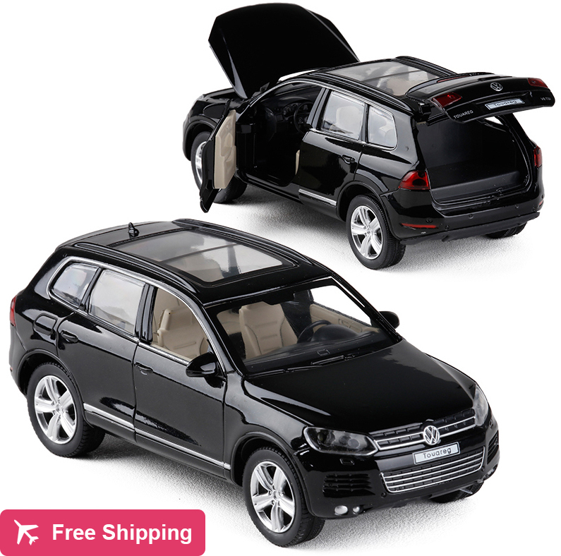 New 1:32 Volkswagen Touareg Acousto-optic Alloy Car Model With Pull Back For Kids Toy Birthday Gift Original Box Free Shipping