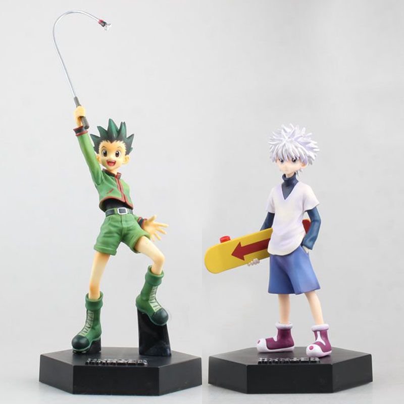 Free Shipping 8 HUNTERxHUNTER Anime Gon Freecss & Killua Zoldyck Boxed 20cm PVC Action Figure Collection Model Doll Toys Gift new hot 18cm one piece donquixote doflamingo action figure toys doll collection christmas gift with box minge3