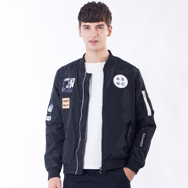 Aliexpress.com : Buy New Men Bomber Jacket Hip Hop Patch Designs ...