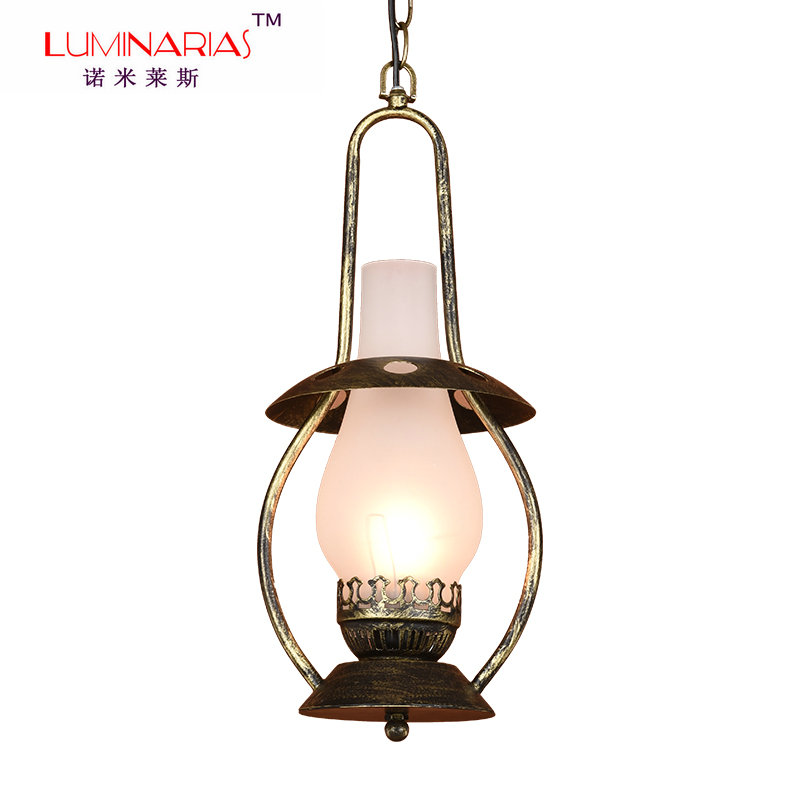 American Country Classic Vintage Pendant light Restaurant Dinning Room Pendant lamp Glass shade lighting AC 110V 220V E27