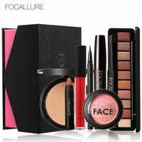Focallure 8 pçs uso diário conjuntos de maquiagem cosméticos compõem cosméticos presente conjunto de ferramentas kit de maquiagem presente