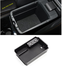 Lapetus Center Armrest Storage Box Phone Tray Accessory Molding Garnish Cover Black Fit For Mitsubishi Eclipse Cross 2018 2019