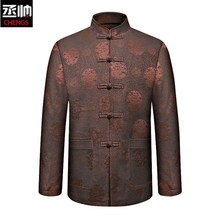 Tang suit men 's chinese style men' s clothing big size men 's printing suits jackets stand collar chinese tunic suit casual