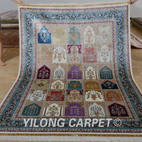 Yilong 5.5'x8' Persian carpet rectangle vantage four season handmade turkish rugs (0787)