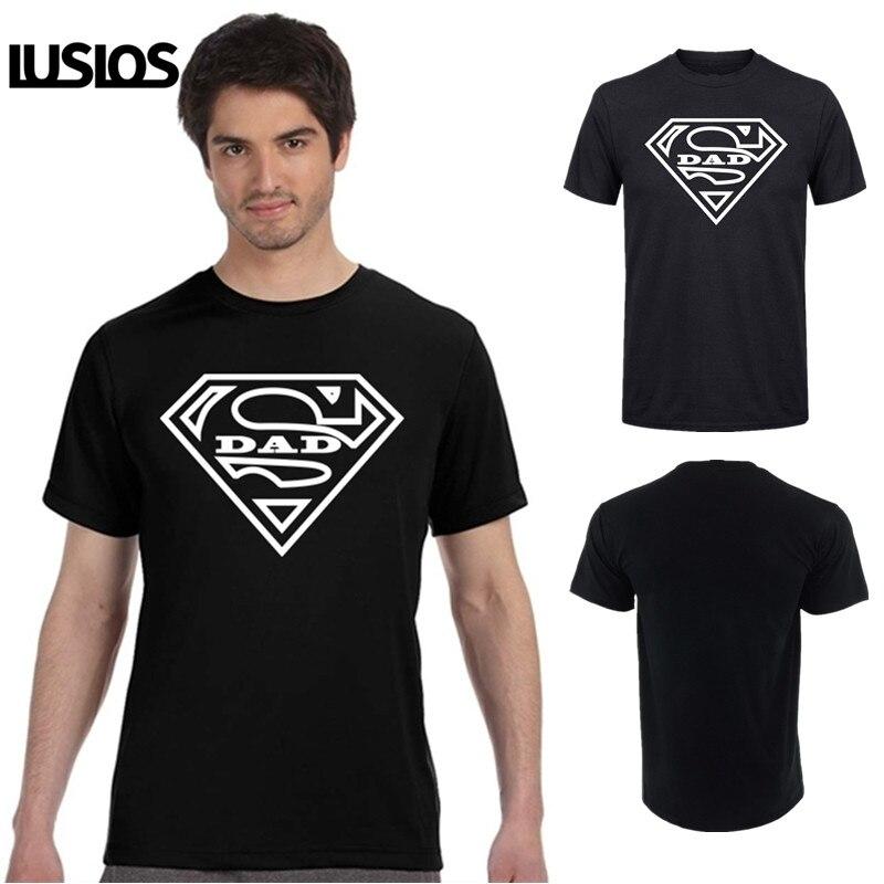 LUS LOS Super papá T camisa par regalo camisetas para papá Casual de algodón súper suave tops Tee