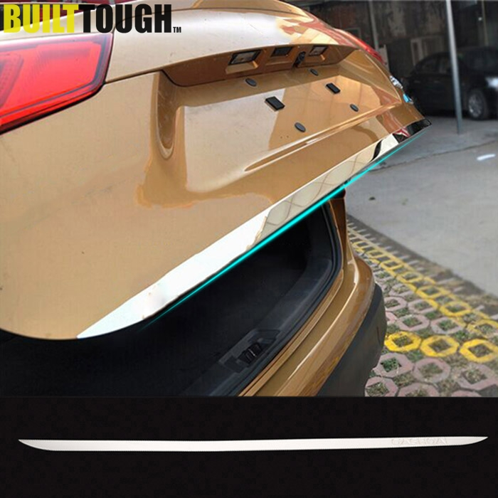 For Nissan Qashqai J11 2015 2016 2017 Stainless Steel Tail Gate Door Cover Trims Rear Trunk Molding Bezel Garnish Car-styling Auto Replacement Parts
