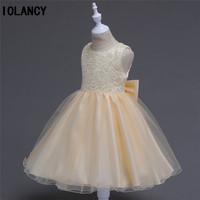 Flower Girl Dress for Wedding Pageant Formal Children Party Costume for Girl Little Princess Junior Child Girl Bridesmaid GDR314