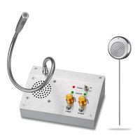 Window Intercom Two Way SUS304 Silver Communication Equipment Intercom for Bank Counter KNDJ 1 Speed Dial intercom