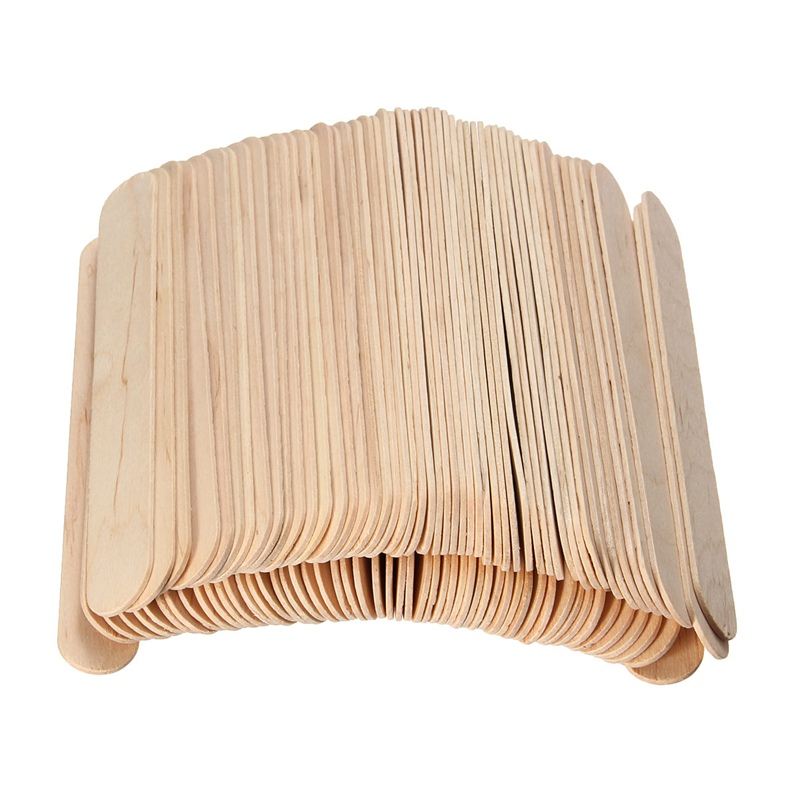 100Pcs 6 Inch Wooden Waxing Wax Spatula Tongue Depressor Disposable Bamboo Sticks Tattoo Wax Medical Stick Health Massage Tool 500pcs pack medical disposable sterile waxing tongue depressor wax stick spatula for oral examination birch wooden